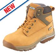 JCB Fast Track Safety Boots Honey Size 8