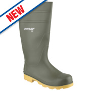 Dunlop Universal Non-Safety Wellington Boots Green Size 11