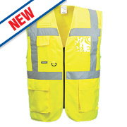 "Portwest Hi-Vis Thermal Waistcoat Yellow XX Large 52"" Chest"