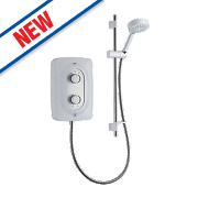 Mira Isle Electric Shower White/Grey 9.5kW