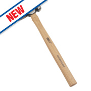 Forge Steel Hickory Handle Ball Pein Hammer 16oz