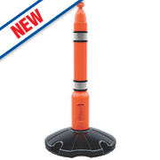 Skipper Retractable Barrier Post & Base Orange