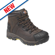 Dickies Medway Hiker Safety Boots Brown Size 8
