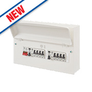 MK Sentry 16-Module 10-Way Metal Split Load Consumer Unit