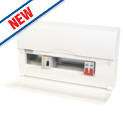 12-Way Split Load Consumer Unit 80A RCD & 100A Switch