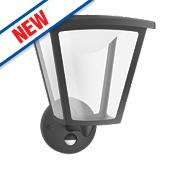 Philips Black PIR LED Cottage Wall Lantern 4.5W