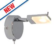 Brilliant Hajo LED Wall Light Chrome 3W 240V