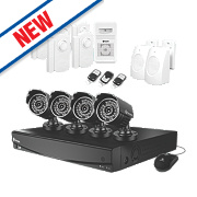 Swann SWVAK-834254A 8-Channel Video Monitoring & Alarm Kit & 4 Cameras