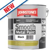 Johnstones Trade Smooth Metal Paint Black 2.5Ltr