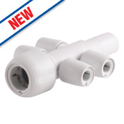Hep2O Push-Fit 4-Port Manifold Socket/Blank Spigot 22 x 10mm