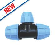 Floplast MDPE Reducing Tee 32 x 25 x 32mm