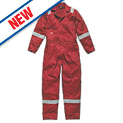 "Dickies WD2279 Zip Front Coverall Red Small 36-38"" Chest "" L"