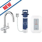 Grohe Red Duo Mixer Kitchen Tap Chrome
