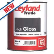 Leyland Trade High Gloss Paint Black 750ml