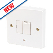 Crabtree 13A Switched Fused Connection Unit - Fan - White Pack of 10