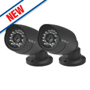 QVIS Hi-Res Bullet Security Camera Pack of 2