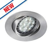 Sylvania Adjustable LED Downlight 360Lm Brushed Aluminium 6.5W 240V