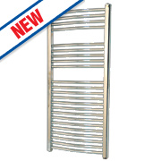Flomasta Curved Electric Towel Radiator Chrome 1100 x 500mm 353W 1204Btu