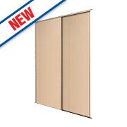Spacepro 2 Door Panel Sliding Wardrobe Doors Maple 1803 x 2260mm