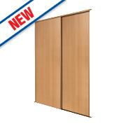 Spacepro 2 Door Panel Sliding Wardrobe Doors Beech 1803 x 2260mm