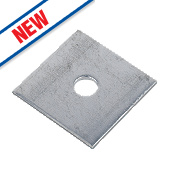 Sabrefix M10 Square Plate Washers Galvanised 50 x 50mm Pk50