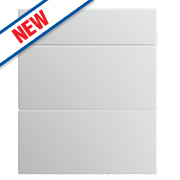 Slab Kitchens 600 Pan Drawer Fronts White Gloss 732 x 596mm