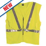 """Fhoss Contego Illuminated Hi-Vis Vest Yellow Large / X Large 46-50"""" Chest"""