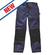 "Dickies Grafter Work Trousers Navy / Black 34"" W 32"" L"