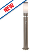 Bole60W Polished Stainless Steel Post Light