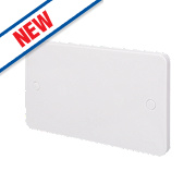 Schneider Electric 2-Gang Blanking Plate White
