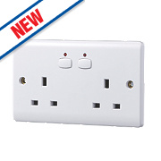 Energenie MiHome 13A 2-Gang SP Switched Socket White