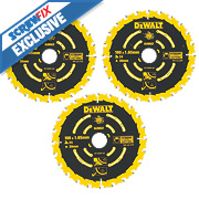 DeWalt DT10304-QZ Extreme TCT Circular Saw Blades 24T 190 x 20mm Pack of 3