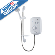Triton Excite Thermostatic Electric Shower White 9.5kW