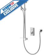 Aqualisa Visage Gravity Pumped Flexible Thermostatic Digital Shower Sat. Chrome