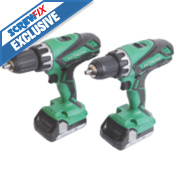 Hitachi KC18DGL/JB 18V 1.5Ah Li-Ion Twin Pack Combi Drill & Drill Driver