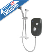 Triton Enlight II Manual Electric Shower Exposed Black & Chrome 8.5kW