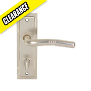 Urfic Nevada WC Door Handle Pair Satin Nickel