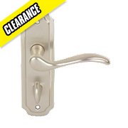 Urfic Constance WC Door Handle Pair Satin Nickel