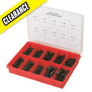 Metric Cap Screws Self Colour 190Pcs