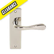 Urfic Victoria WC Backplate Lever Pair Polished Nickel