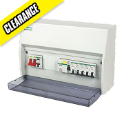 Crabtree 10-Way Fully Insulated Split Load Consumer Unit 63A RCD