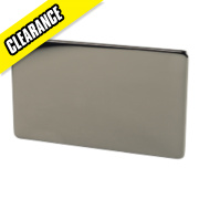 Crabtree 2-Gang Blank Plate Black Nickel