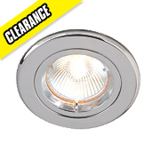 Robus Fixed Round Low Voltage Downlight Polished Chrome 12V Pk10