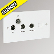 Labgear Screened Outlet Plate Triplexed + Return