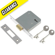 Century 3-Lever Mortice Deadlock Chrome Plated 2½