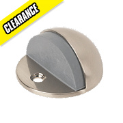 Low-Rise Oval Door Stop Satin Nickel Pack of 5