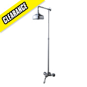 Swirl Traditional Manual Mixer Shower Exposed Chrome Effect