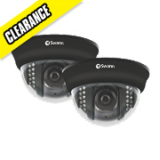 Swann PRO-531 CCTV Dome Indoor / Outdoor Wired Security Camera Pack of 2