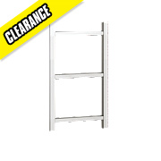 Kudox Belinda Designer 3-Bar Towel Radiator Chrome 700 x 400mm 115W 392Btu