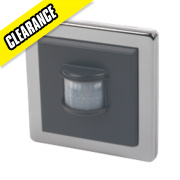 LightwaveRF Wall-Mounted Wireless PIR Chrome